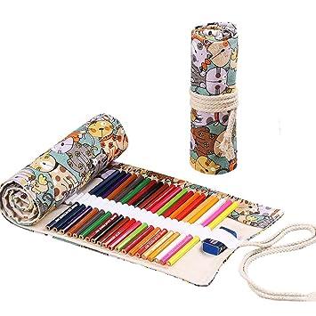 48 Agujeros Bolsa de Lápices de Colores Liviano para Lápices de Colores Estuche para Lápices (Estilo2-48 agujeros)