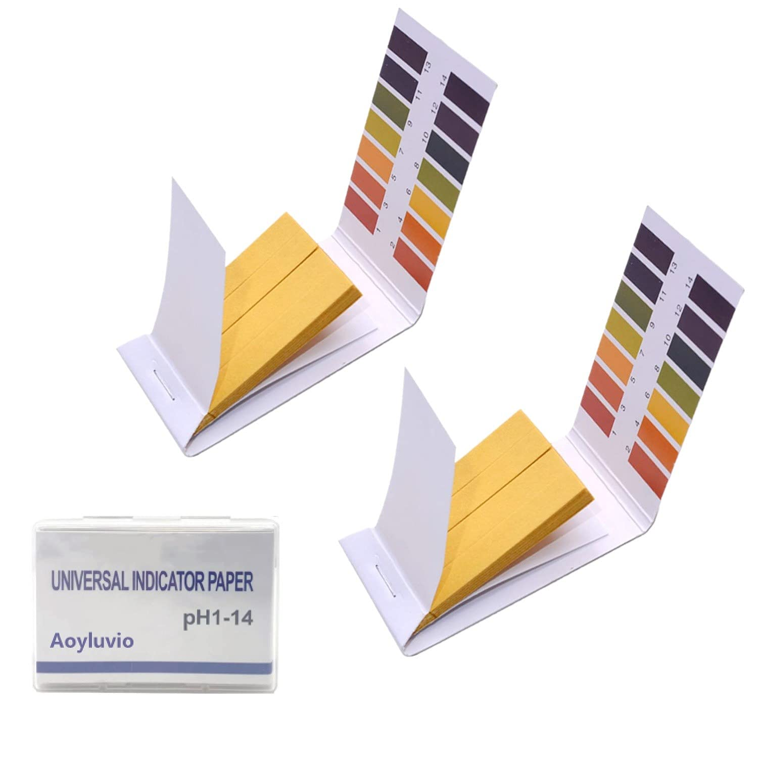 pH.1-14 Test Paper Litmus Test Paper 180 Strips pH Test with Storage Case for Urine, Saliva, Drinking Water, Pool, Spa,Soap, & Liquids and Food pH Monitoring (2 Pack with Storage Case)