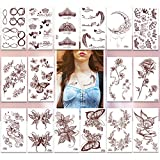 Temporary Tattoos Pack of 16 Sheets Flash Fake Tattoo Stickers,200+ Small Body tattoos Designs,Dream Princess Collection for Women Teens Girls