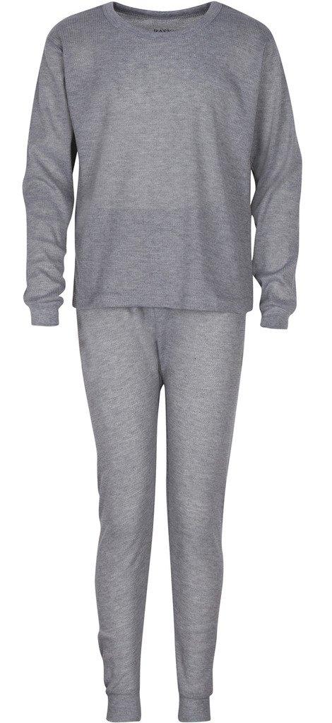 PREMIUM Boys Thermal Underwear Set – Waffle Knit – Warm & High Moisture Wicking 8 Gray