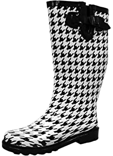 a28c044268306 Cambridge Select Women s Pattern Print Colorful Waterproof Welly Rain Boots
