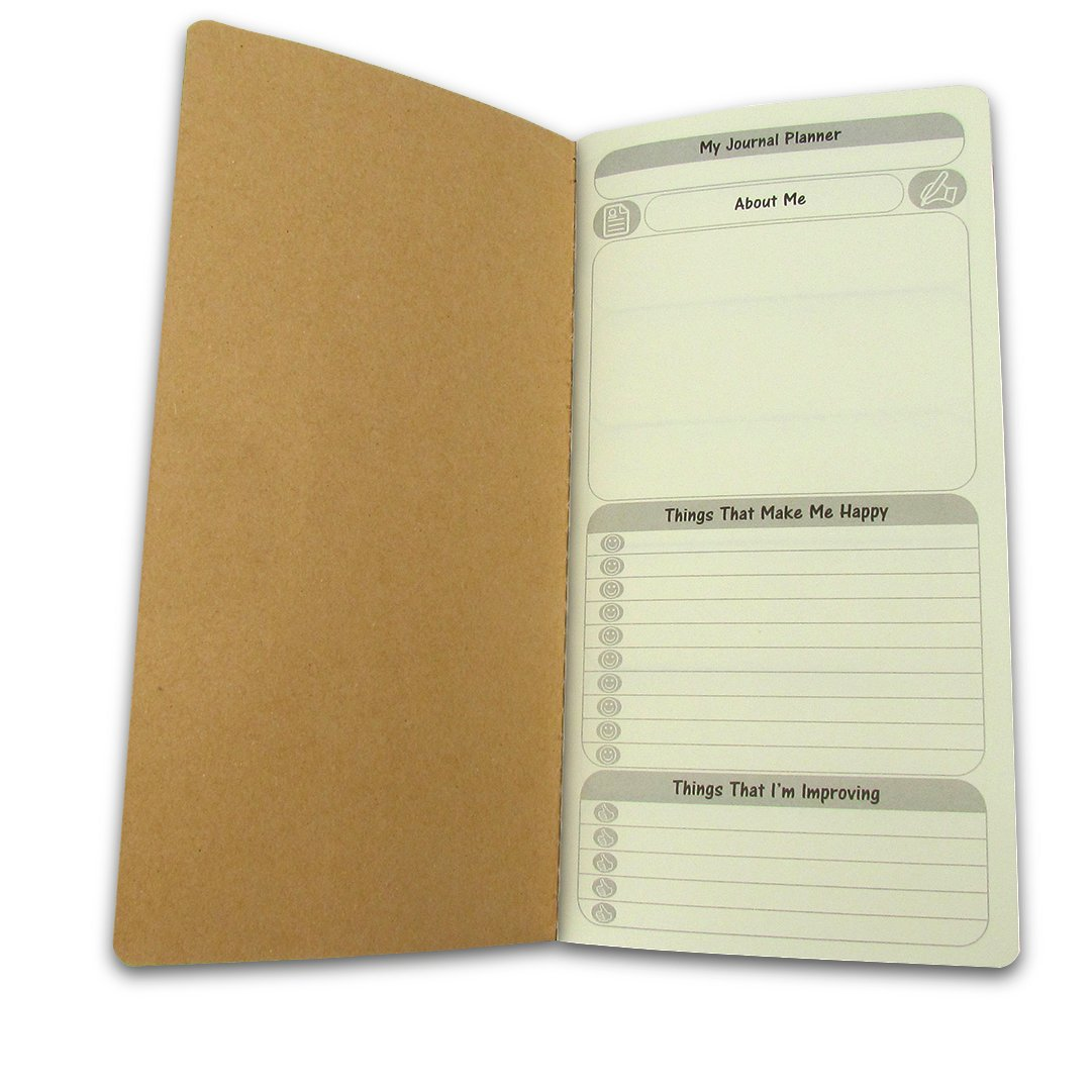 Sovereign-Gear To Do List Weekly Planner Refill Insert for Traveller's Notebook Journal - Free Diary Weekly 12 Month Summary + 6 Month 26 Week Detail Yearly Planner - Daily / Yearly Calendar for Standard Leather Notebook 4.75 x 8.5