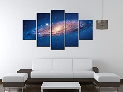 Amazon.com: PulsatingFingertip-5 Panel Modern Abstract Wall Art Dark ...