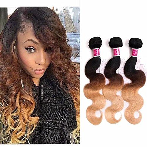 Brazilian Virgin Hair Bundles with Closure Middle Part Body Wave Natural Color