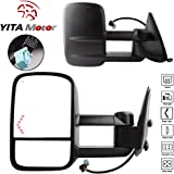 YITAMOTOR Towing Mirrors Power Heated Telescoping Arrow Signal LED Light for 2003-2007 Chevy/GMC Silverado/Sierra Side Mirrors (Just 07 Classic)