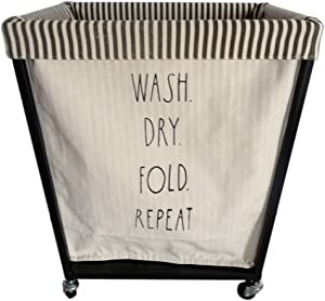Rae Dunn Heavy Duty Laundry Hamper on Wheels - by Designstyles