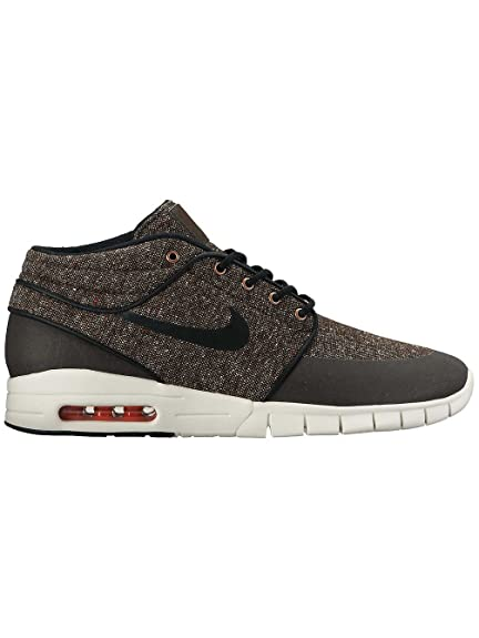 promo code d2bdc 132a9 Nike Stefan Janoski MAX MID Mens Skateboarding-Shoes 807507 (7. 5 D(M) US, Baroque  Brown Laser Crimson sail Black)  Buy Online at Low Prices in India ...