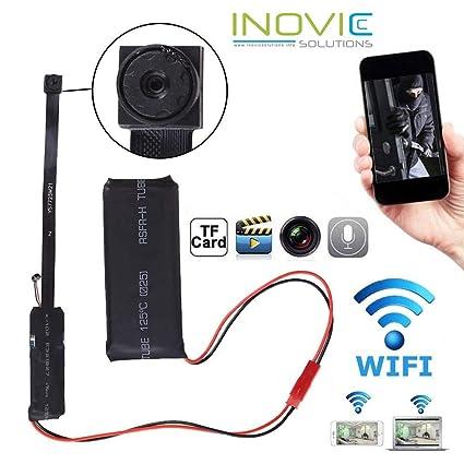 Inovics 4K Spy WiFi IP camera HD circuit mini cam 1920px1080p HD audio  video recording watch live 24 hours small surveillance security camera for  home
