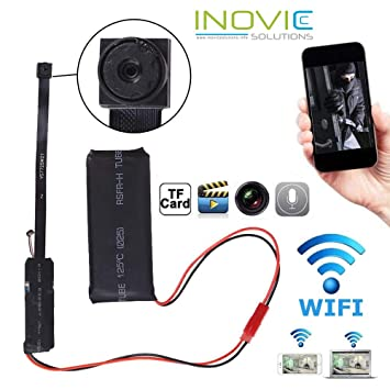 Inovics 4K Spy WiFi IP camera HD circuit mini cam 1920px1080p HD audio video recording watch live 24 hours small surveillance security camera for home nanny hidden wireless camera