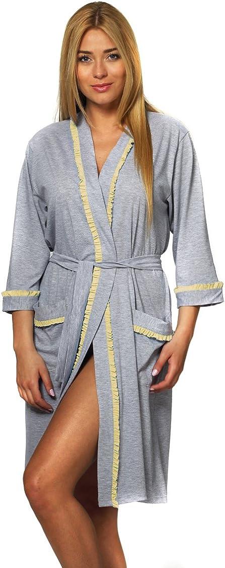 TALLA S. Italian Fashion IF Bata Ligera Vestido de Casa Mujer N39F1