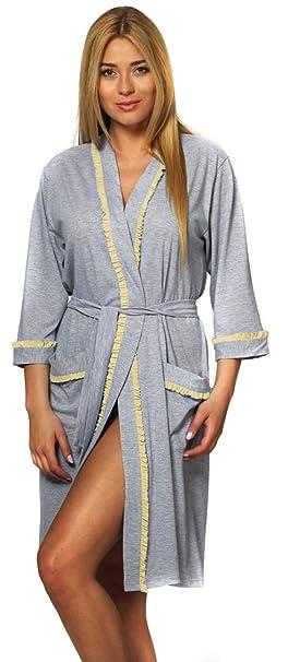 Italian Fashion IF Bata Ligera Vestido de Casa Mujer N39F1: Amazon.es: Ropa y accesorios