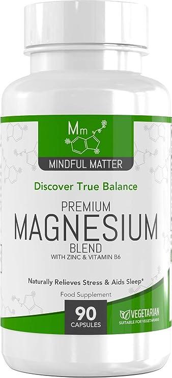 ... 3 Tipos Diferentes de Magnesio Altamente Biodisponible - GLICINATO, TAURATO & MALATO + Vitamina B6 y Zinc: Amazon.es: Salud y cuidado personal