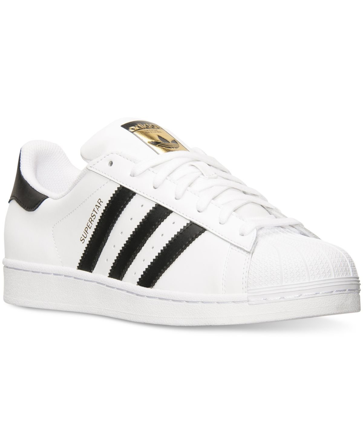 adidas Originals Men's Superstar Casual Sneaker, White/Core Black/White, 9.5 M US