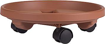 Terracotta Clay  Resin  Plant Caddy H x 11.9 in Dia Bloem  3.6 in