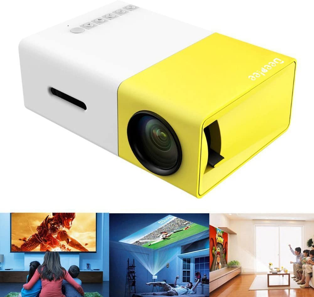 Proyector Portátil, Deeplee Mini Proyector LED Home Cinema ...