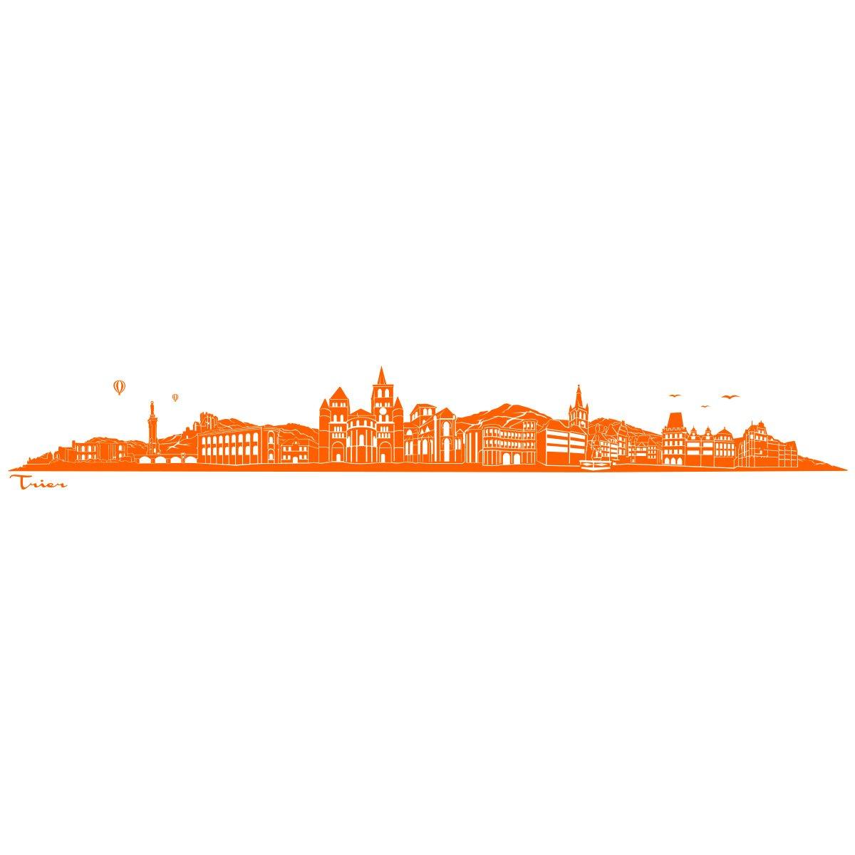 WANDKINGS WANDKINGS WANDKINGS Wandtattoo - Skyline Trier (ohne Fluss) - 240 x 36 cm - Schwarz - Wähle aus 6 Größen & 35 Farben B078SH3H9F Wandtattoos & Wandbilder 9de768
