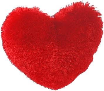 Dimpy Stuff Heart Cushions, Red (35cm x 28cm)