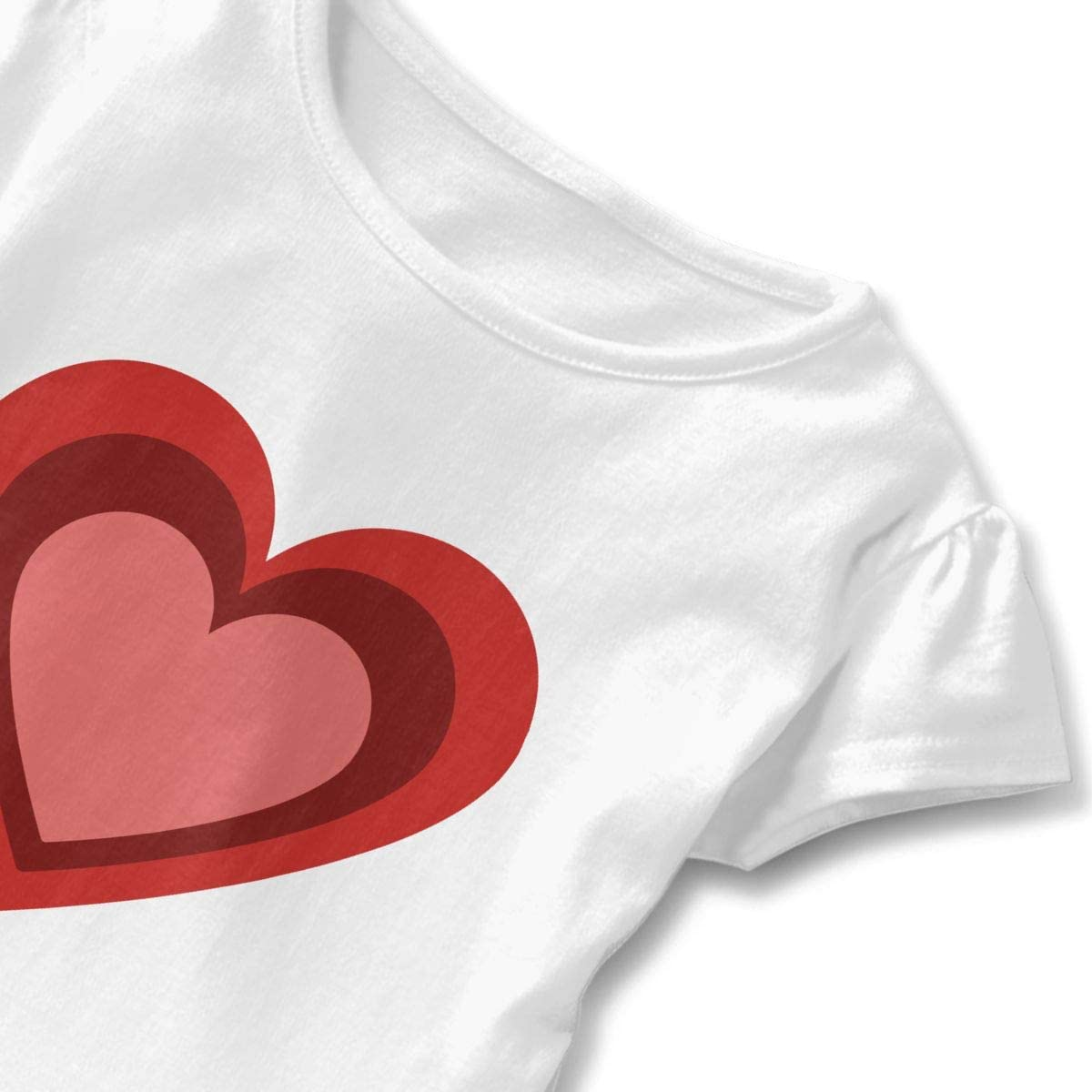 Three Sizes Heart Toddler Baby Girl Short Sleeve Graphic Tee Tops