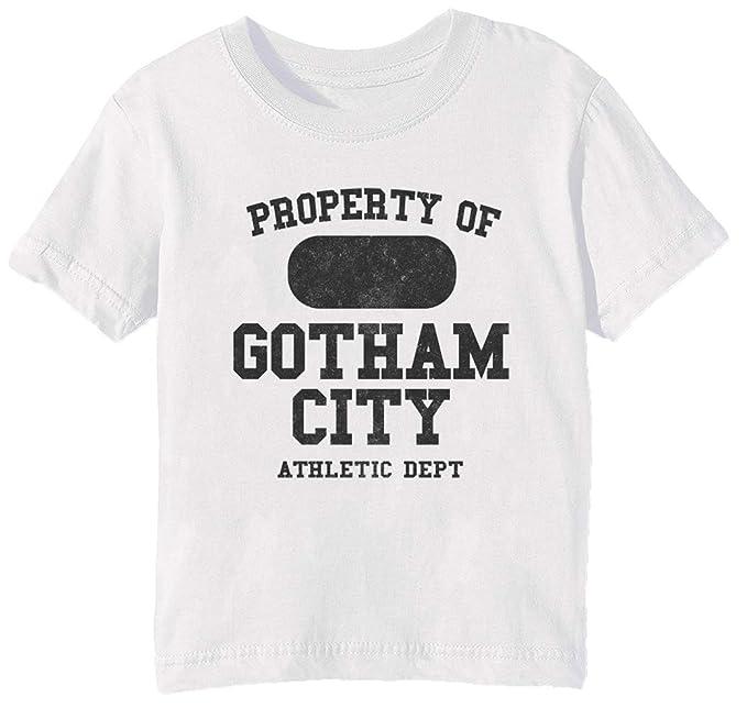 9f2748b5cb469 Gotham City Athletic Dept - Cyborg Niños Unisexo Niño Niña Camiseta Cuello  Redondo Blanco Manga Corta