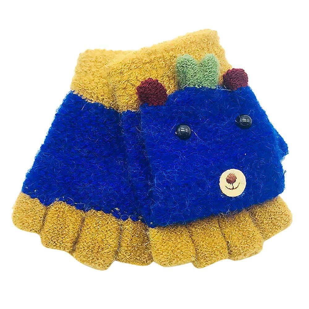 Longra Kleinkind Baby Handschuhe für Mädchen Jungen Winter Handschuhe Strickhandschuhe Fausthandschuhe Strickfäustel Handschuh Cartoon Tier Fleecehandschuhe Wollhandschuhe, 1-3 Jahre 1-3 Jahre (A)