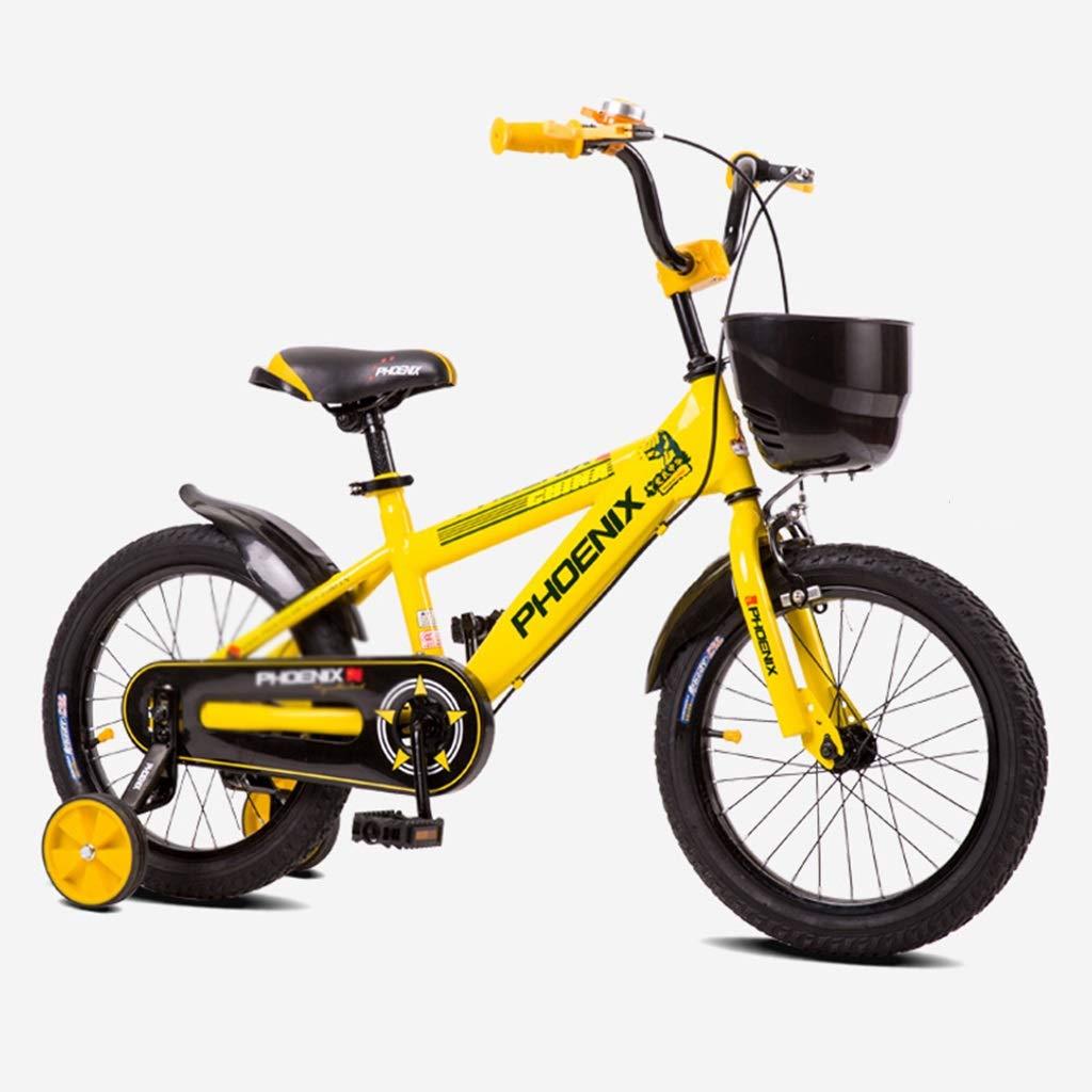 子ども用自転車 学生自転車シングルスピード自転車学生自転車少女自転車自転車、誕生日プレゼント (Color : Yellow, Size : 12inches) 12inches Yellow B07R9ZZNBX