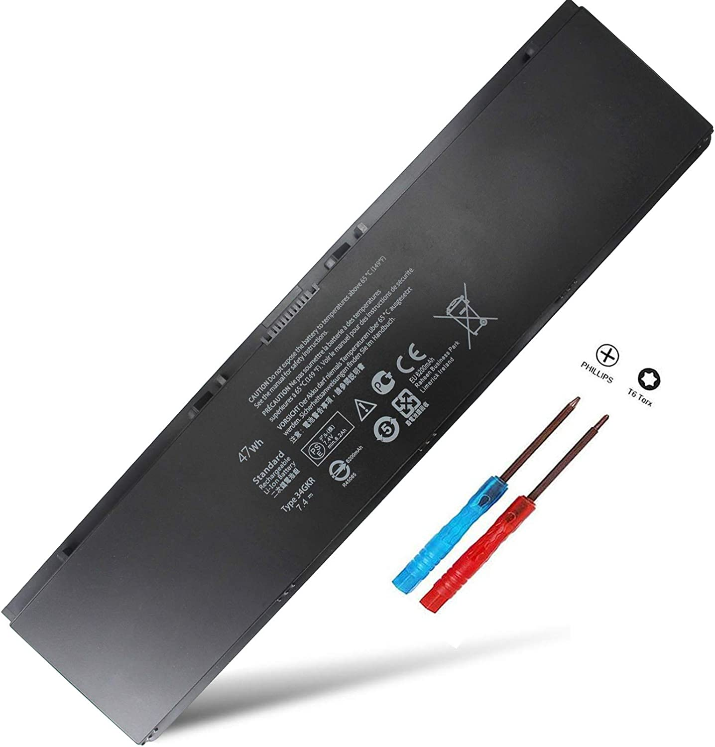 E7440 E7450 Laptop Battery Compatible with Dell LatitudeE7420 7440 7450 Battery fit 451-BBFV 451-BBFT 451-BBFY3RNFD G0G2M PFXCR T19VW 34GKR 0909H5 0G95J5 E225846 47WH