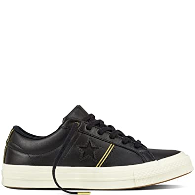 Converse One Star Ox Leather Black Gold 10 Men M US 4f4d20629