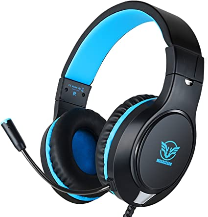 Gaming Headset Mic Stereo Surround Headphone 3.5mm Wired For PS4 IPAD PC Xboxone