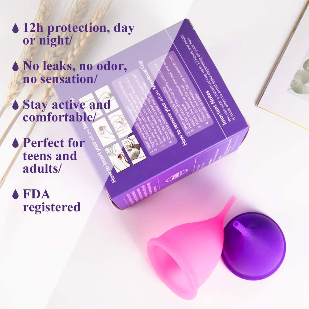 Copa menstrual - 12h Protección día y noche - Reusable Soft ...