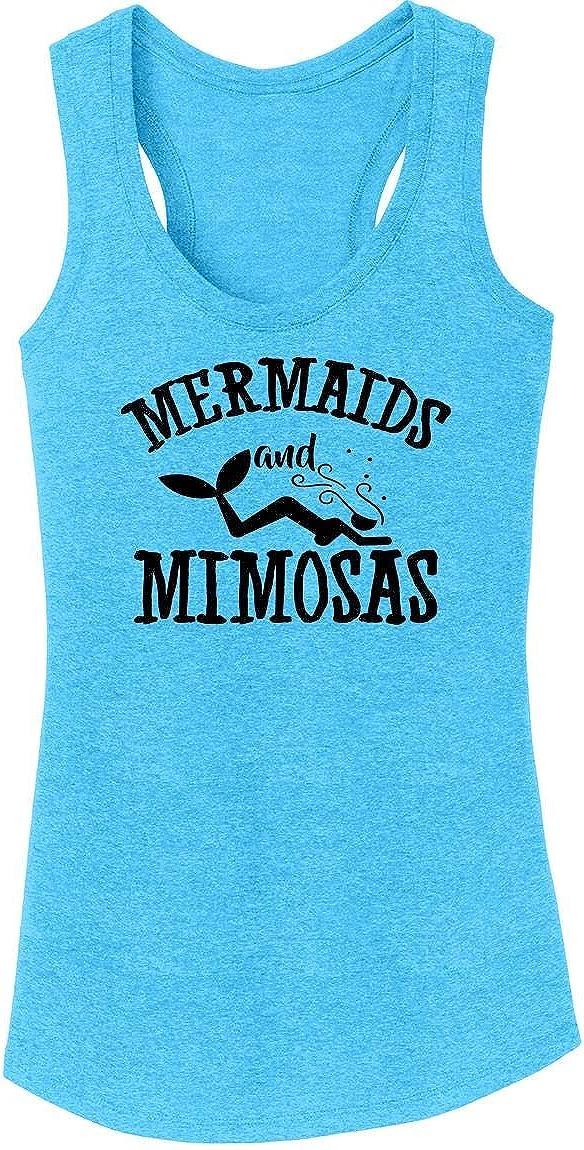Comical Shirt Ladies Mermaids and Mimosas Tri-Blend Tank Top