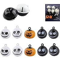 12 Pcs Pumpkin Bells Pet Collar Bells,Halloween Pendants DIY Crafts Handmade Accessories 19 Mm Charm Pendants Decoration