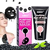 Black Peel Off Mask,Bamboo Charcoal Deep Clean Mask Remove Anti Face Mud Mask Blackhead Facial Mask Acne Treatment Mask ,Blackhead Remover Strip Deep Clean Mask For Face Nose