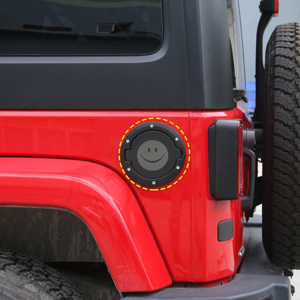 Gas Cap Cover Fuel Tank Cap Cover for 2007-2018 Jeep Wrangler JK JKU Sport Rubicon Sahara Unlimited A4