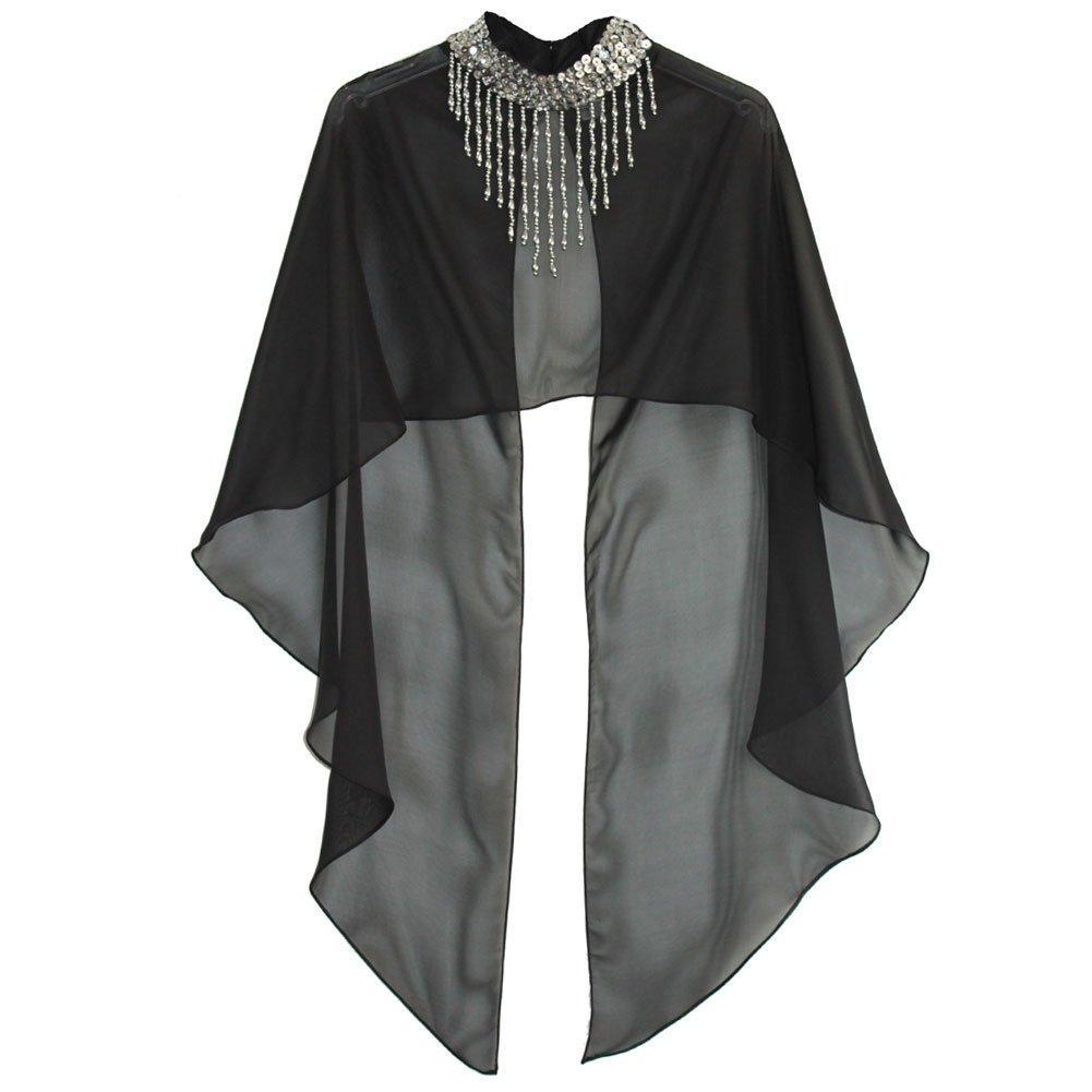 [해외]반짝이 춤 의상 판 쵸 케이프 쇼트 길이 프리 사이즈 / Sequin Dance Costume Poncho Cape Short length free size