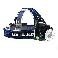 GuDoQi LED Lámpara de cabeza USB Alimentado Control del Sensor Ir Enfoque Ajustable Zoom IPX4 Impermeable para Camping, Senderismo, Ciclismo y Uso de Emergencia