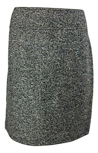 Elie Tahari Wool Skirt - Elie Tahari Women's Virgin Wool Reversible Pencil Skirt, Black Topaz, 14