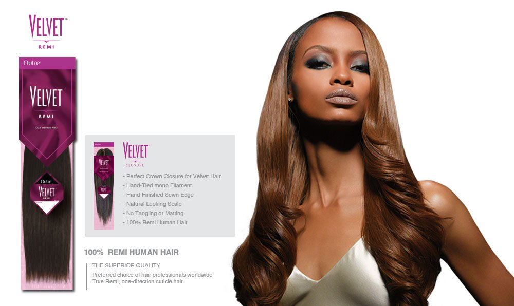 """Duby Hair Weave Styles: Amazon.com : Outre Velvet Remi Full Lace Closure 12"""" (12"""