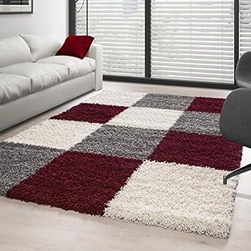 Carpettex Teppich - Hochflor Langflor Wohnzimmer Shaggy Teppich ...