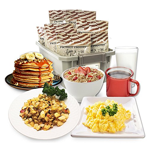 Patriot Pantry Breakfast Favorites Tote, 122 Emergency Food Servings, up to 25-Year Shelf Life