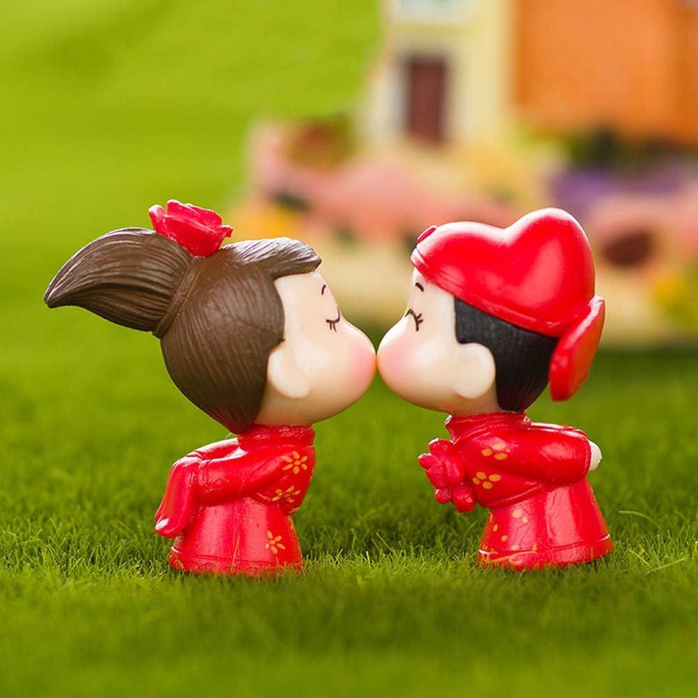 Mini Lover Couple Figurines Artisanat Jardin de Fée Bonsaï Mariage Décor Cadeau