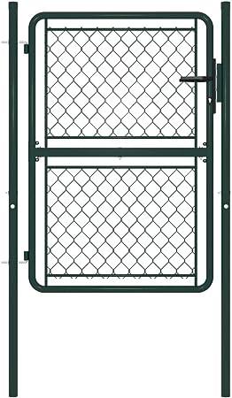 Disfruta Tus Compras con Puerta de jardín de Acero Verde 100x150 cm: Amazon.es: Hogar