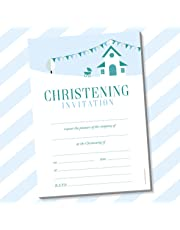 20 x A5 Christening Invitations (With White Envelopes, Church)