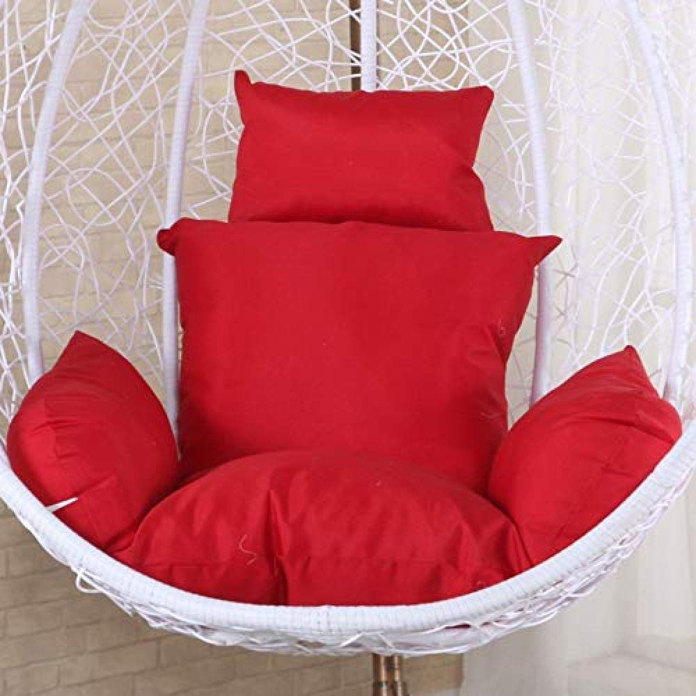 Hanging Basket Chair Cushion, Swing Seat Cushion Thick Rocking Chair Cushions Large Seats Pad Cradle Chairs Mat,Red by MonthYue