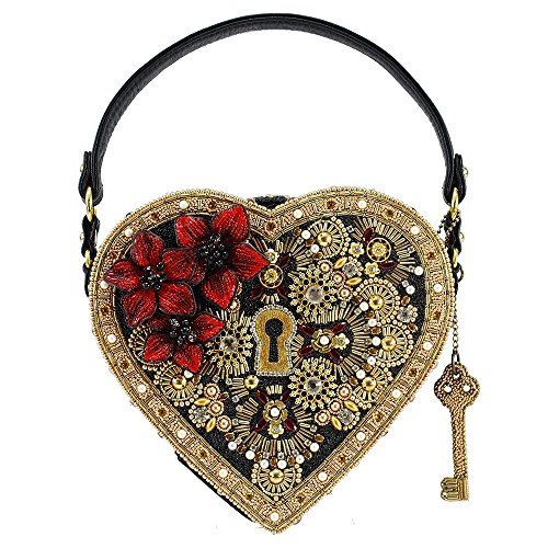 Heart Embellished and Frances Handle Multi Bag Lock Top Key Mary SUIwx
