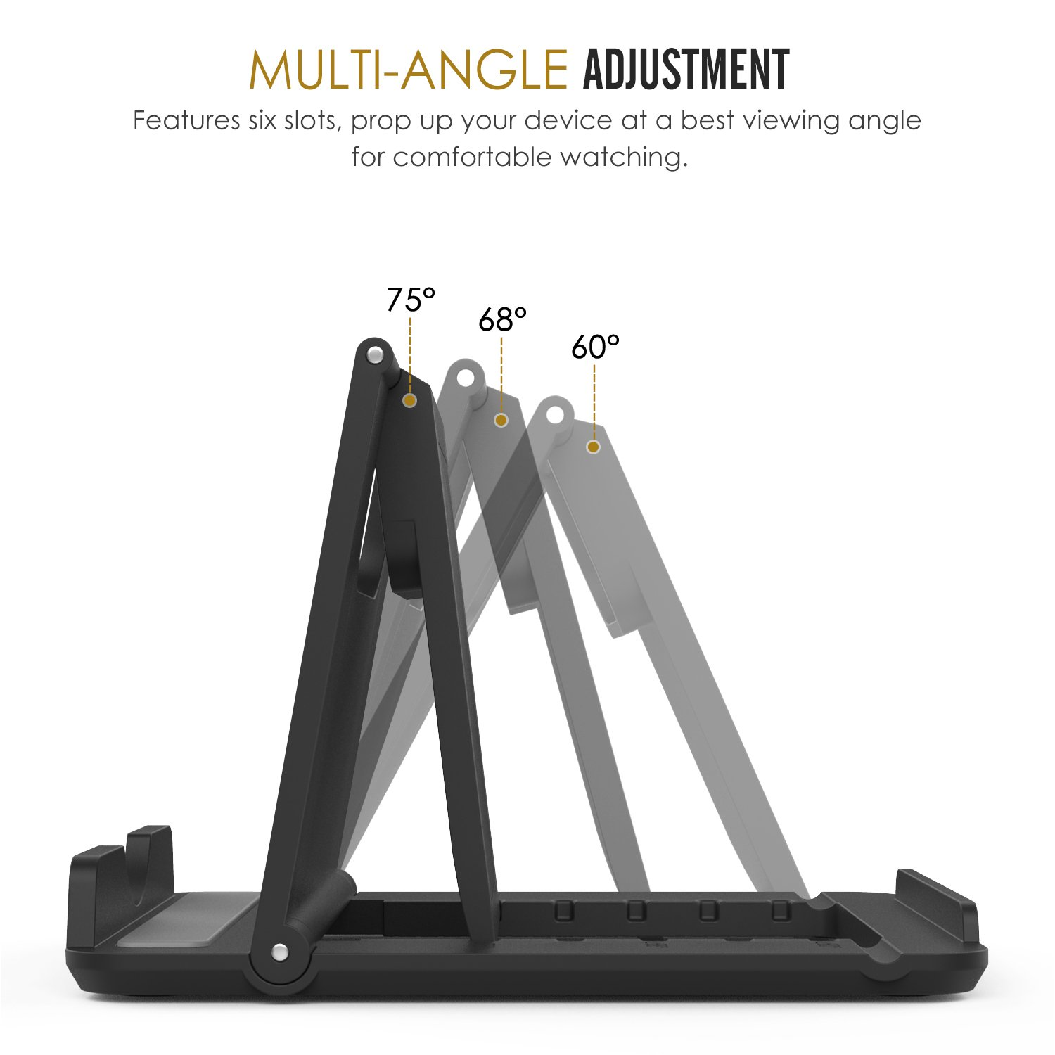 Amazon [2 Pack] MoKo Cellphone Tablet Stand Universal Foldable Multi angle Desktop Holder for iPhone X 8 8 Plus 7 7 Plus Galaxy S9 S9 Plus Note 8