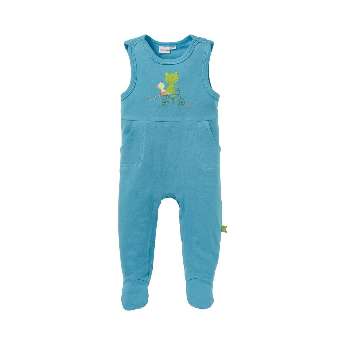 Bornino Confetti Animals Strampler blau für Jungen Mädchen