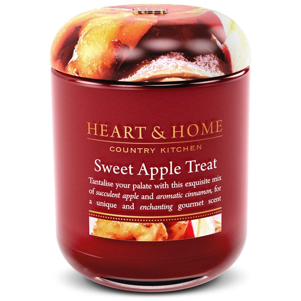 Jarre Bougie à la cire de soja Gourmandise aux Pommes Heart and Home