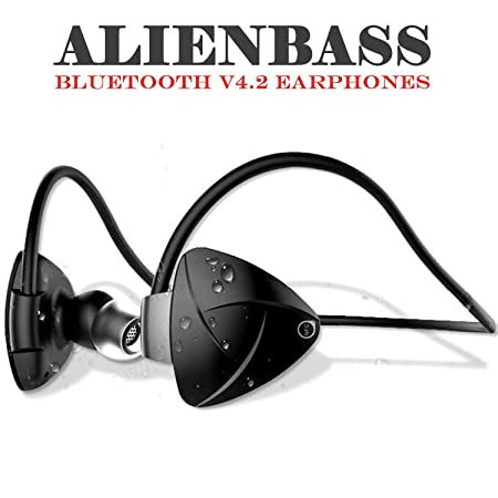 Chevron AlienBass Bluetooth v4.2 Earphones with Mic (Volcano Black) Mobile Phone Bluetooth Headsets at amazon