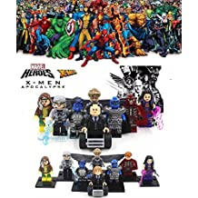 ABG toys Minifigures MARVEL DC Comics X-Men Apocalypse Magneto, Apocalypse, Professor Xavier, Psylocke, Angel, Nightcrawler, Pink, Rogue Super Heroes Minifigure Series Building Blocks Sets Toys