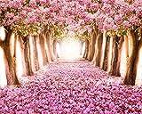AOFOTO 10x8ft Spring Cherry Blossom Backdrop Sweet Sakura Flower Tree Photography Background Wedding Floral Petal Boulevard Photo Studio Props Girl Bride Woman Lady Mother Artistic Portrait Wallpaper
